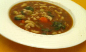 Hearty Vegan Navy Bean Soup Recipe – Low Cholesterol.Food