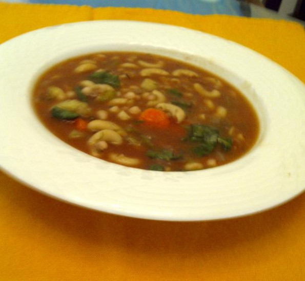 Hearty Vegan Navy Bean Soup Recipe - Low-cholesterol.Food