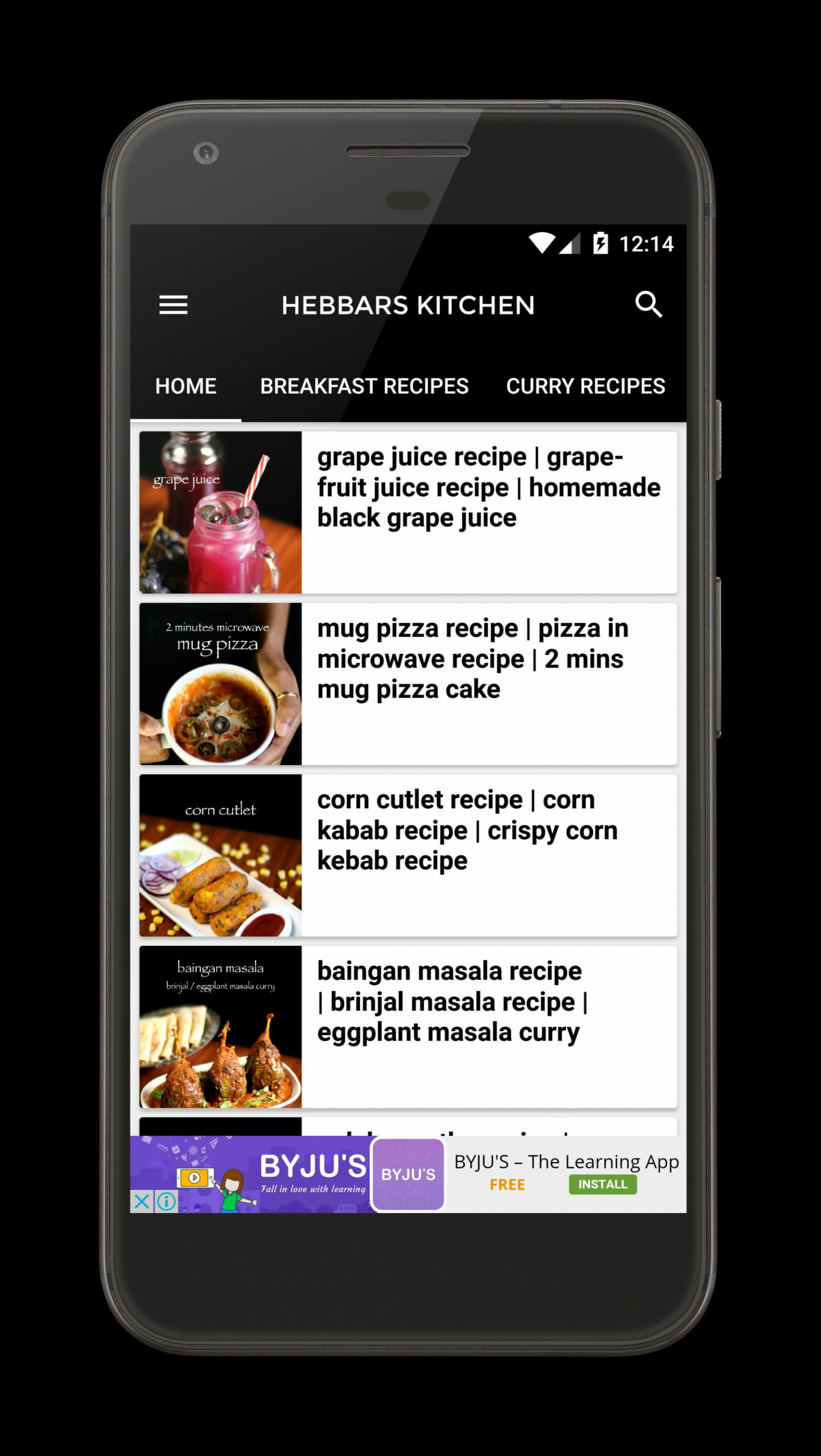 Hebbars kitchen für Android - APK herunterladen - dinner recipes by hebbars kitchen