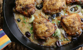Heirloom Garlic Clove Chicken Thighs – Valerie Bertinelli Recipes Chicken Thighs