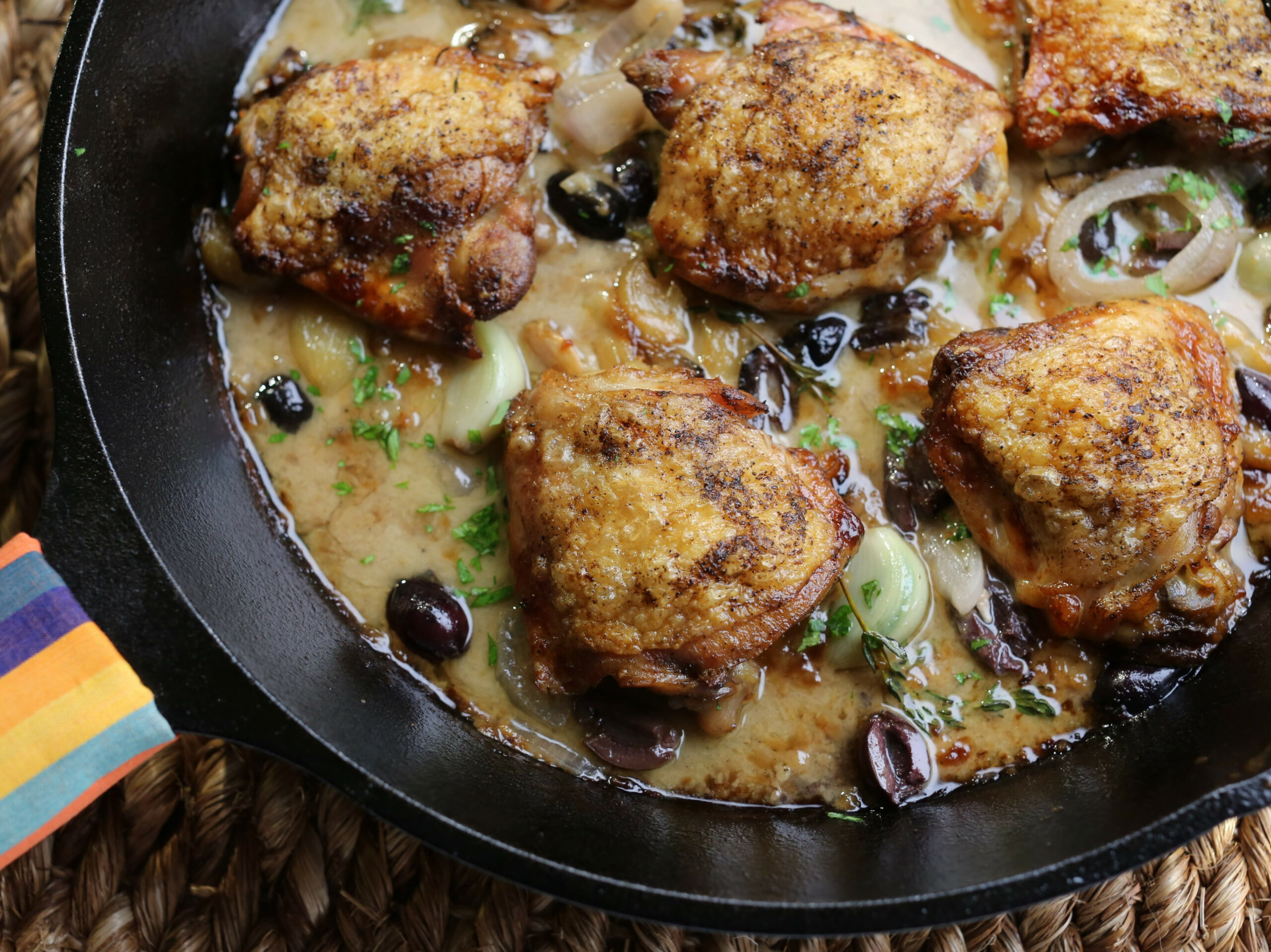 Heirloom Garlic Clove Chicken Thighs - valerie bertinelli recipes chicken thighs