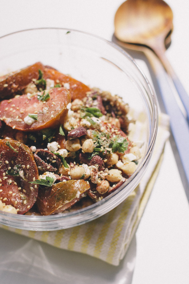Heirloom Za'atar Salad - Zaatar Recipes Vegetarian