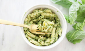 Hemp Heart Basil Pesto Pasta – Healthy Recipes Dairy Free