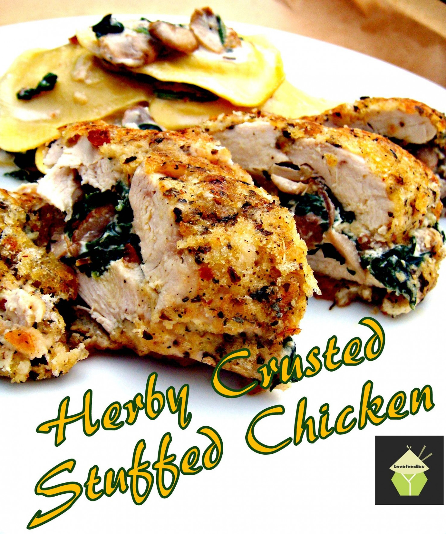 Herb Crusted Stuffed Chicken. Uses Fresh Ingredients, Low In ..