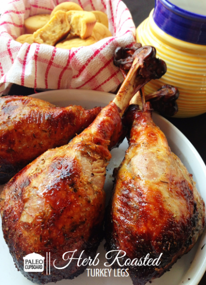 Herb Roasted Turkey Leg Recipe - Paleo Cupboard - Healthy Recipes Roasted Turkey Legs