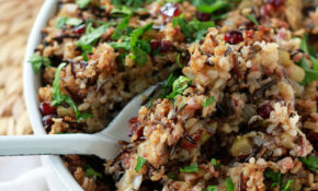 Herbed Wild Rice & Quinoa Stuffing – Kitchen Treaty – Recipe Vegetarian Quinoa Stuffing