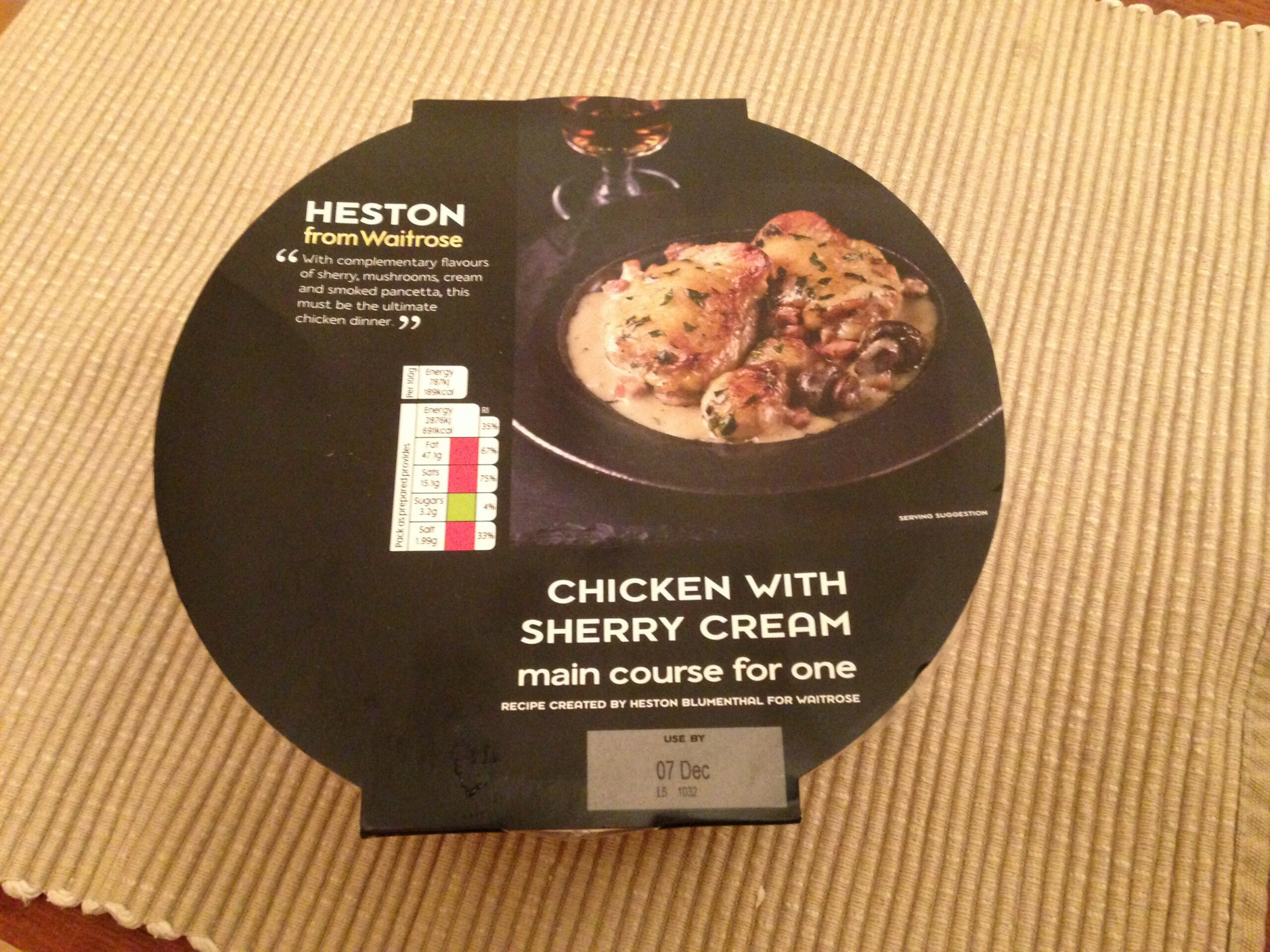 Heston from Waitrose Chicken with Sherry Cream | Michelin ..
