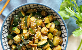 Hibachi-Style Sesame Ginger Zucchini - Forks and Folly