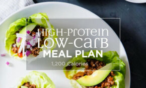 High Protein, Low Carb Meal Plan: 1,200 Calories – EatingWell – Dinner Recipes Low Carb High Protein