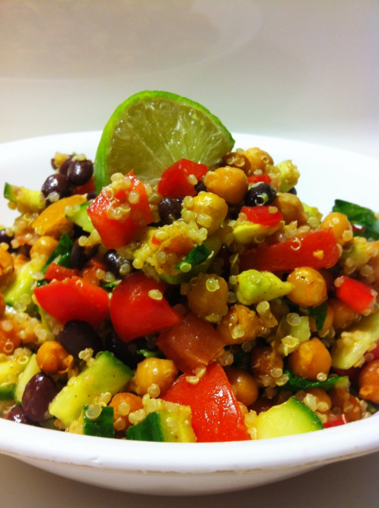 High Protein Vegan Fiesta Salad - healthy recipes protein