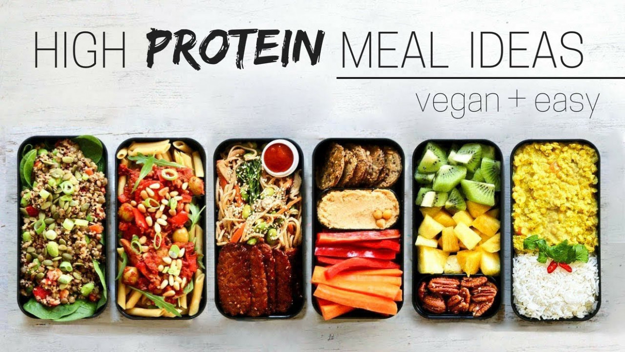 HIGH PROTEIN VEGAN MEAL IDEAS » bento box - food recipes protein