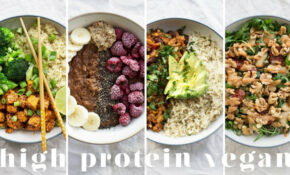HIGH PROTEIN VEGAN MEALS | 15 Recipes = 15g Protein – Recipes Vegetarian High Protein