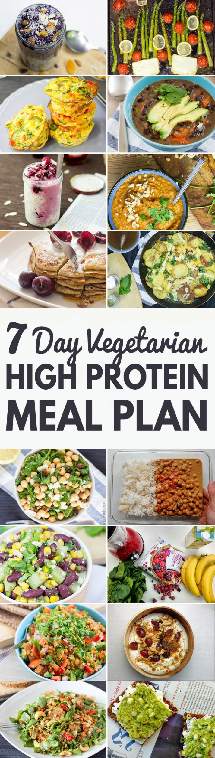 High Protein Vegetarian Meal Plan – Build Muscle and Tone Up - vegetarian recipes that are high in protein