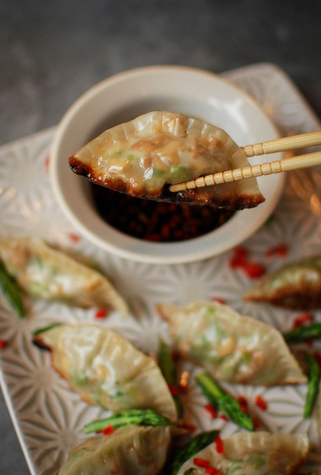 Homemade Asparagus and Tofu Gyoza Recipe - Katiecakes ..