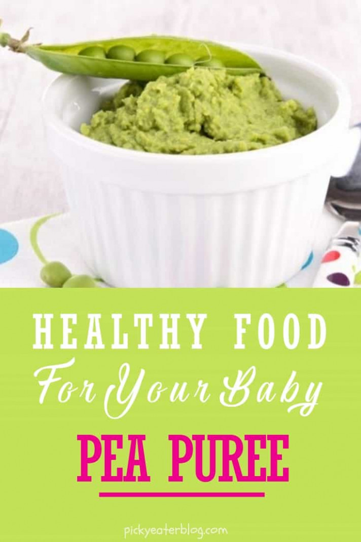 Homemade Baby Food Recipes: Pea Puree - The Picky Eater - yummy baby food recipes