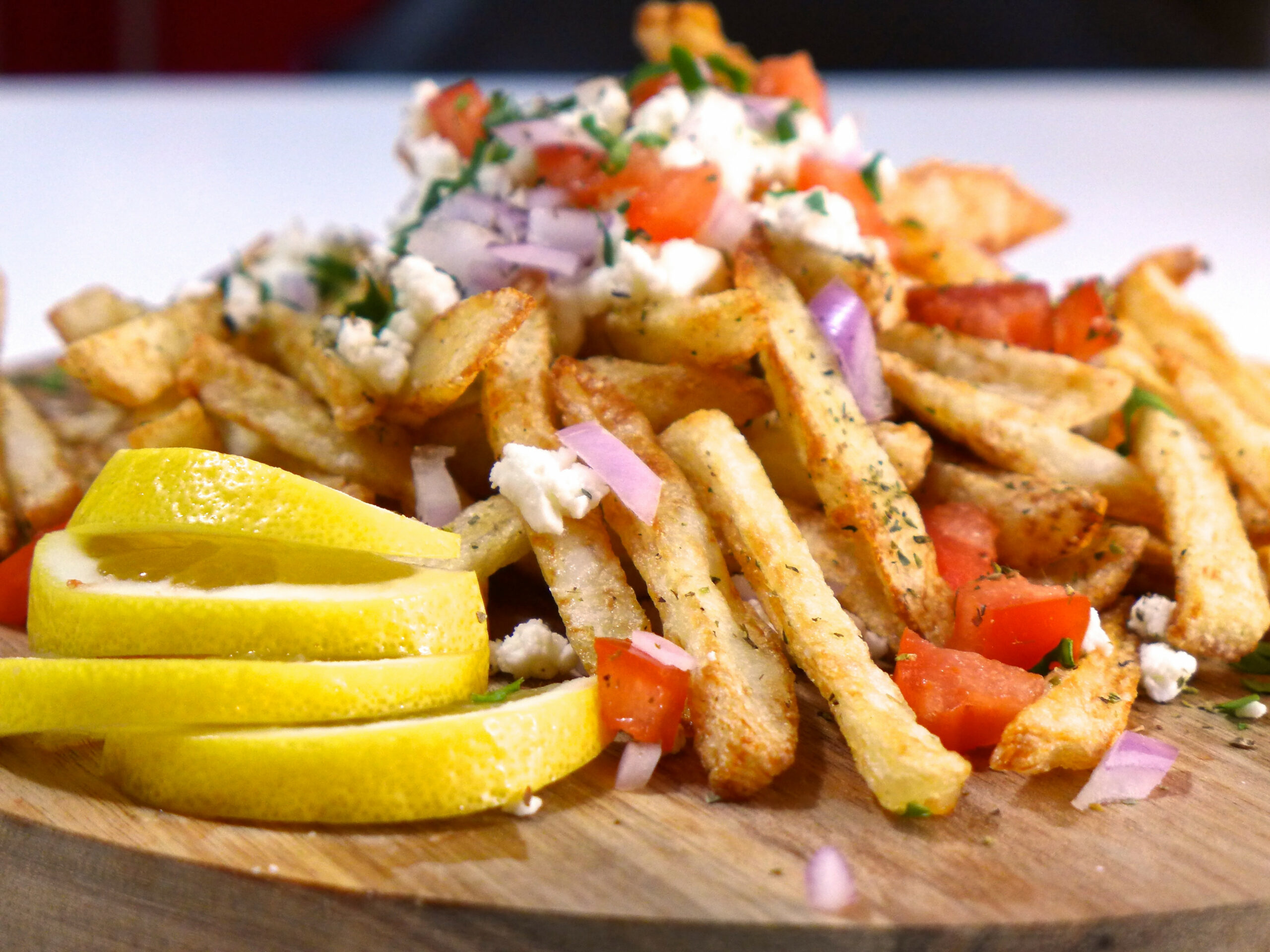 Homemade Baked Greek Fries recipe with feta cheese - My ..