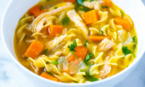 Homemade Chicken Noodle Soup Recipe | Foodflag – Chicken Recipes Soup