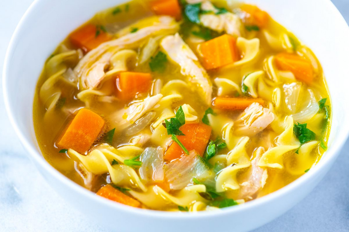 Homemade Chicken Noodle Soup Recipe | Foodflag - chicken recipes soup