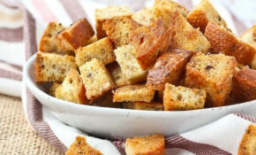 Homemade Croutons – 4 Ingredients! Baked – VIDEO ..