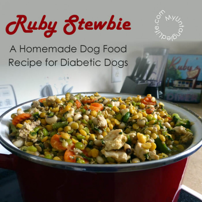 Homemade Diabetic Dog Food Recipe - Ruby Stewbie - food recipes for dogs