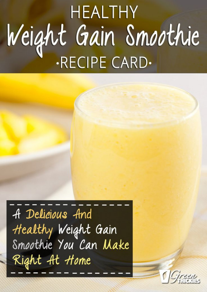 Homemade Healthy Weight Gain Smoothie | Recipe | Green ..
