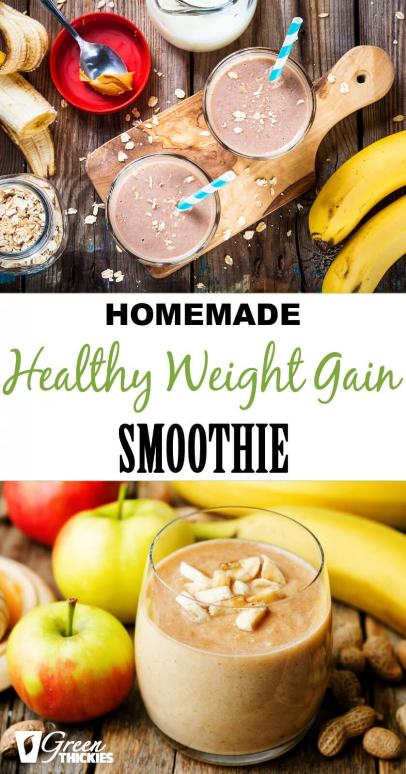 Homemade Healthy Weight Gain Smoothie - recipes to gain healthy weight