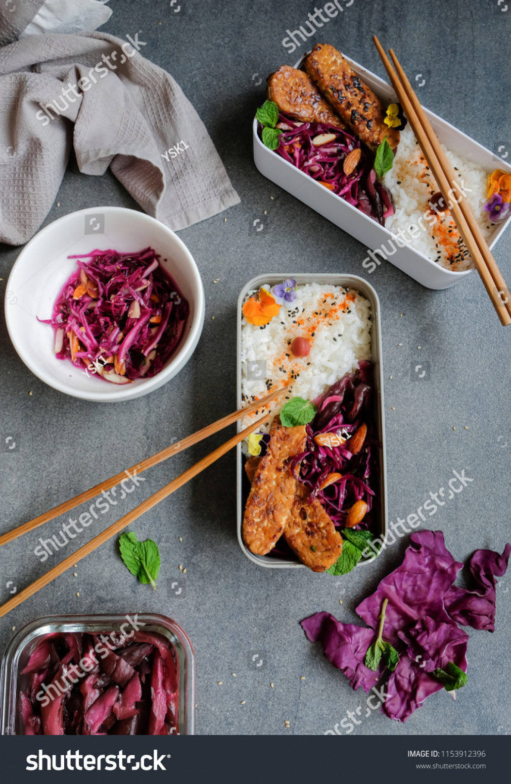 Homemade Japanese Cuisine Purple Cabbage Salad Stock Photo ..
