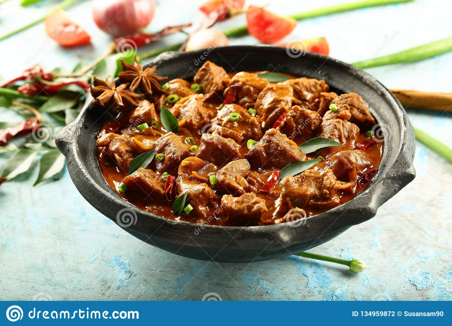 Homemade Mutton Curry From Kerala Cuisine. Stock Photo ..