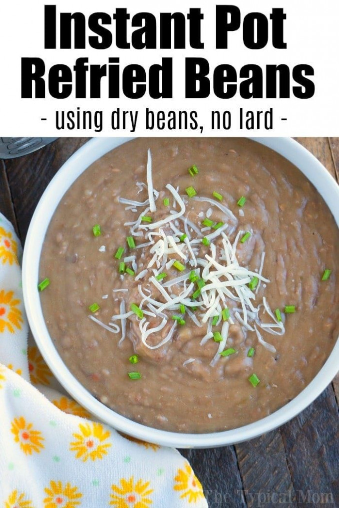 Homemade pressure cooker refried beans recipe that uses no ..