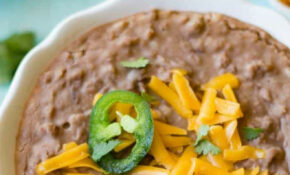 Homemade Refried Beans – Recipe Vegetarian Refried Beans