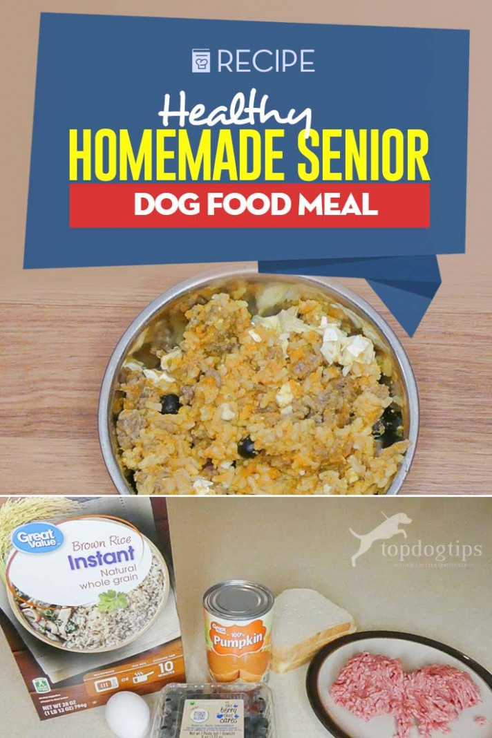 Homemade Senior Dog Food Recipe (with Video And Tips) - Healthy Dog Food Recipes