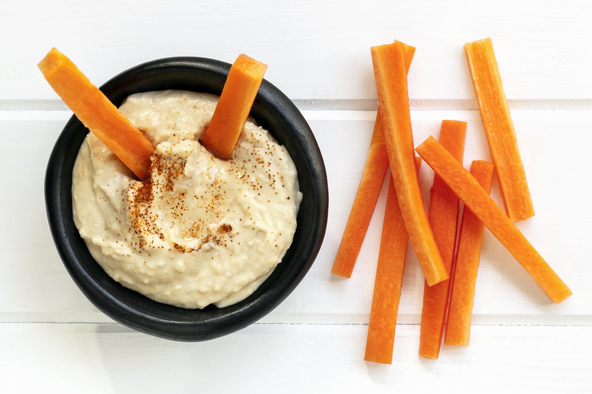 Hommus and Vegetable Sticks – Growing Good Habits - healthy recipes queensland government