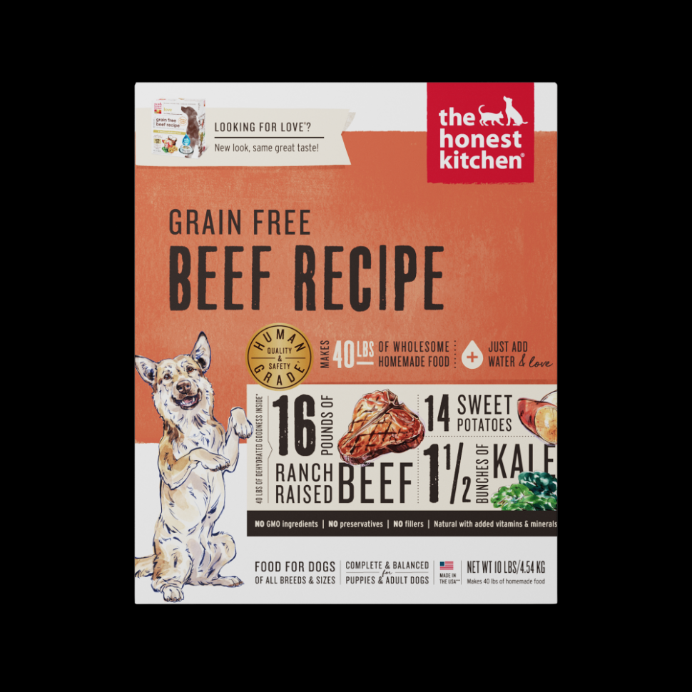 Honest Kitchen Beef Recipe Dehydrated Raw Dog Food - recipes raw dog food
