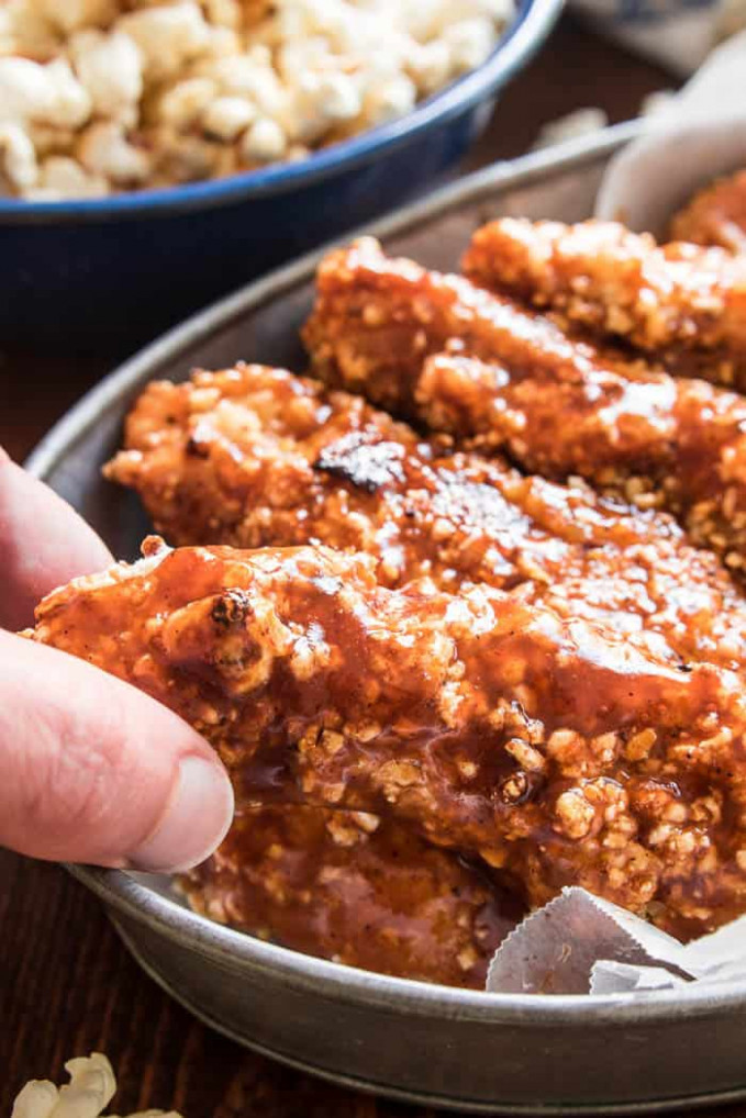 Honey BBQ Chicken Tenders – Lemon Tree Dwelling - recipes you can make with chicken tenders