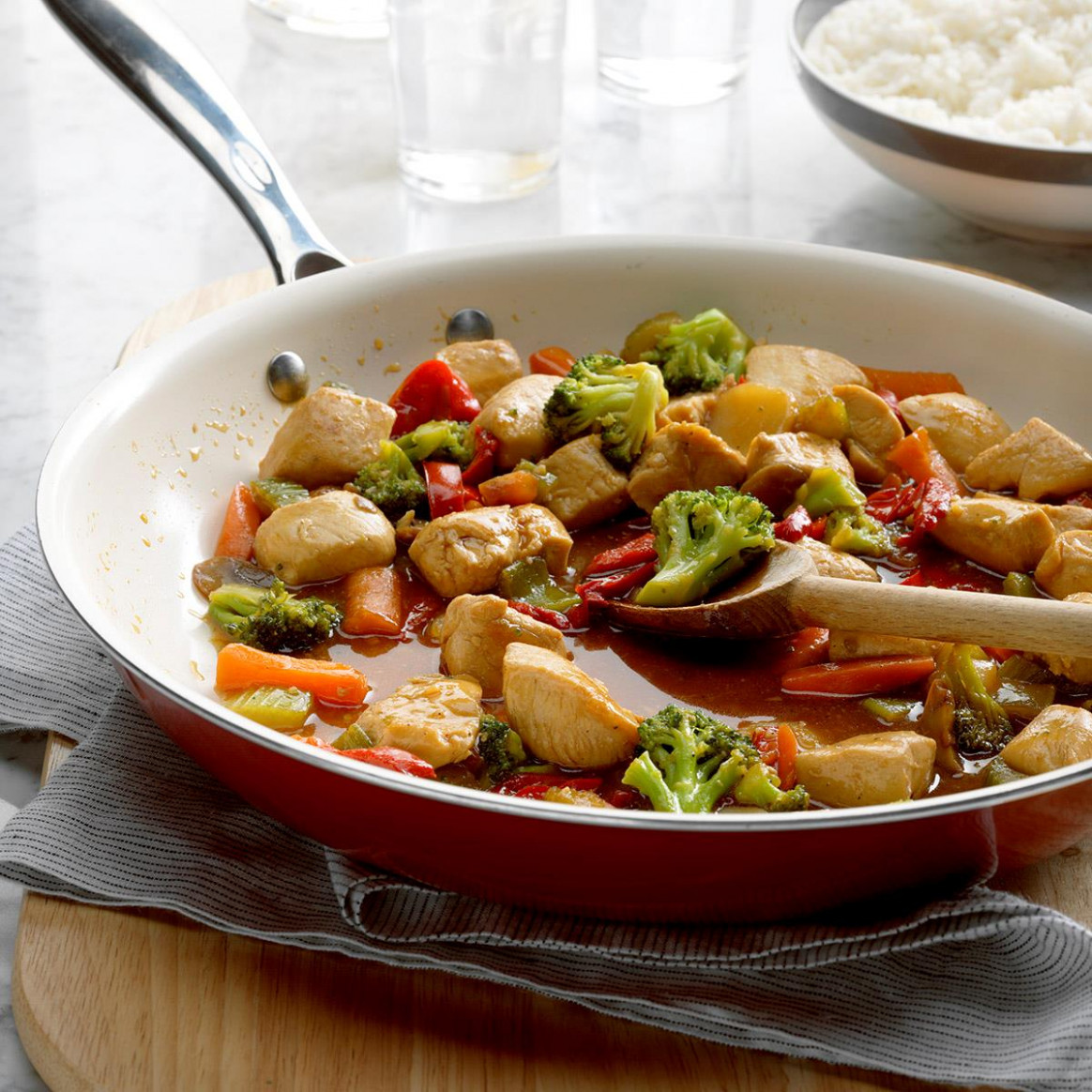 Honey Chicken Stir-Fry - stir fry recipes chicken