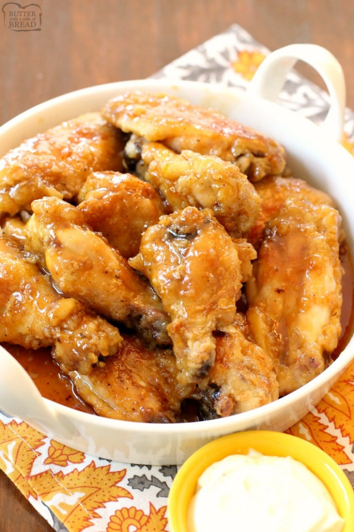 Honey Glazed Chicken Wings - Chicken Recipes Honey