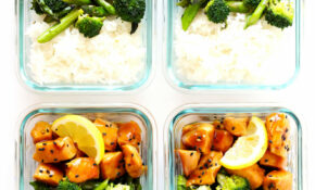 Honey Lemon Chicken Bowls (Meal Prep)   Gimme Some Oven – Chicken Recipes Meal Prep