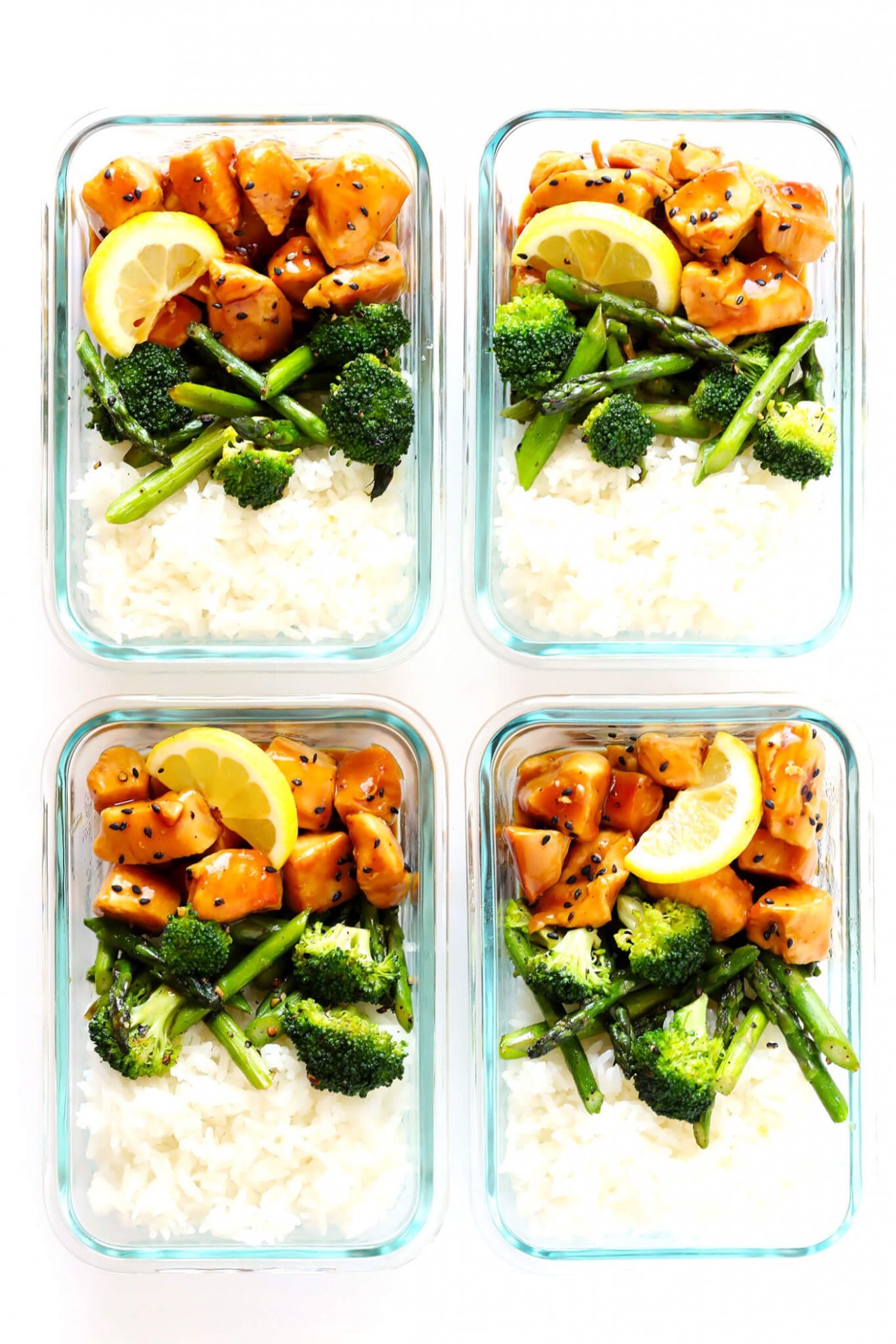 Honey Lemon Chicken Bowls (Meal Prep)   Gimme Some Oven - chicken recipes meal prep
