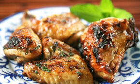 Honey Mint Glazed Grilled Chicken Recipe | SimplyRecipes.com