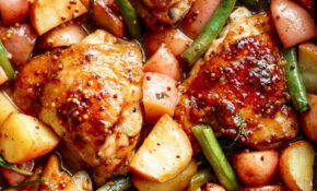 Honey Mustard Chicken & Potatoes (ONE PAN) – Chicken Recipes Honey