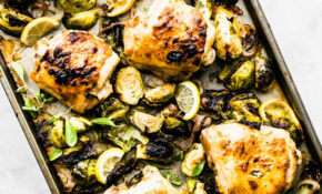 Honey Mustard Chicken With Brussels Sprouts – Chicken Recipes Honey Mustard