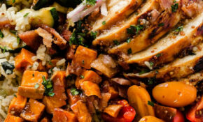 Honey Mustard Chicken With Spinach And Artichoke Rice Bowls – Recipes Honey Mustard Chicken