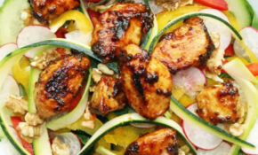 Honey & Mustard Marinated Chicken On A Raw Salad – Chicken Recipes Honey Mustard