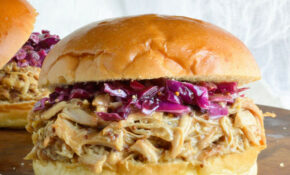 Honey Mustard Shredded Chicken Sandwich Recipe