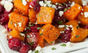 Honey Roasted Butternut Squash With Cranberries And Feta ..