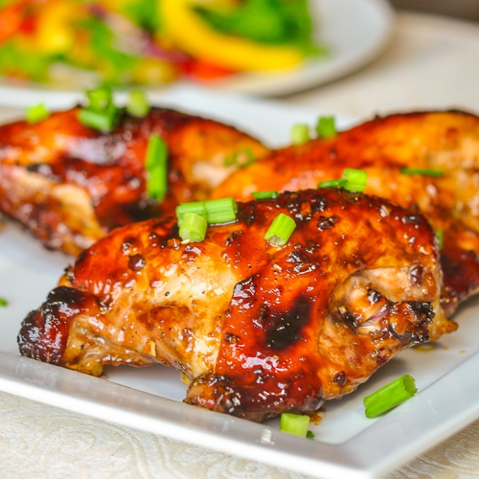 Honey Soy Chicken Breasts - only 6 ingredients & so easy ..