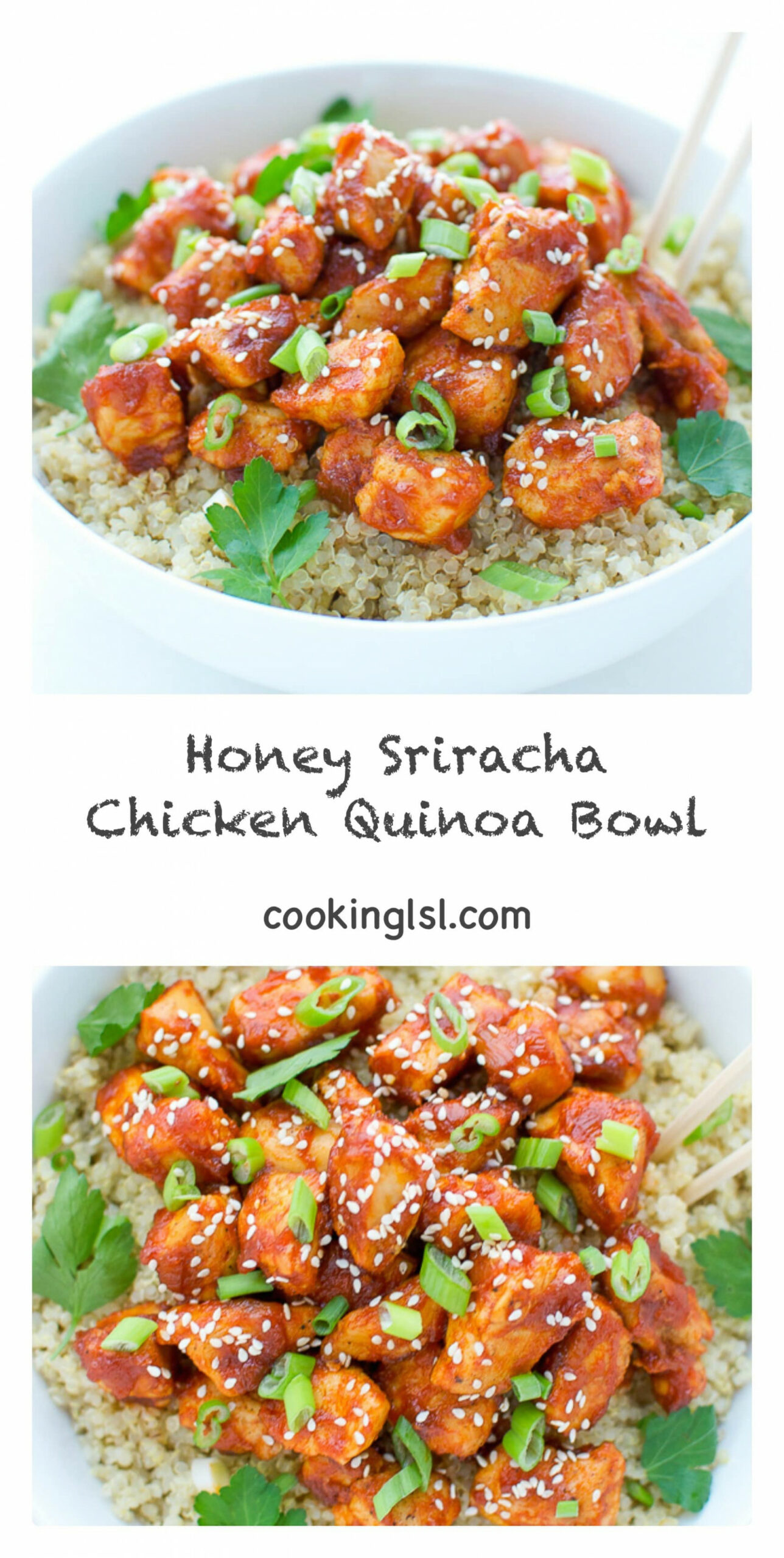 Honey Sriracha Chicken Quinoa Bowl - Quinoa Recipes Chicken