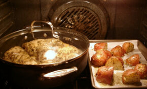Honeyed Chicken Legs & Roasted Potatoes With Herbs – Chicken Recipes Quarter Legs