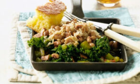 Hoppin' John With Collard Greens Recipe – Vegetarian Times – Recipe Vegetarian Hoppin John
