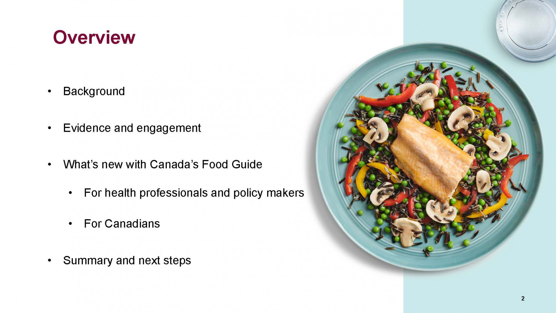 Hospitality Services - Recipes Canada Food Guide